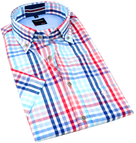 OLYMP Casual, modern fit, Button-down, Rot