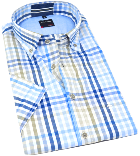 "OLYMP Casual, modern fit, Button-down, Blau ""Aktionsprodukt des Monats"""