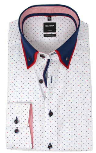 "OLYMP Luxor, modern fit, Button-down, Rot ""Aktionsprodukt des Monats"""