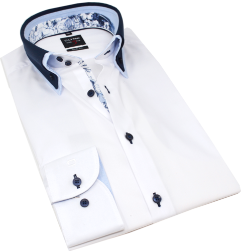 OLYMP Level Five, body fit, Button-down, Weiß
