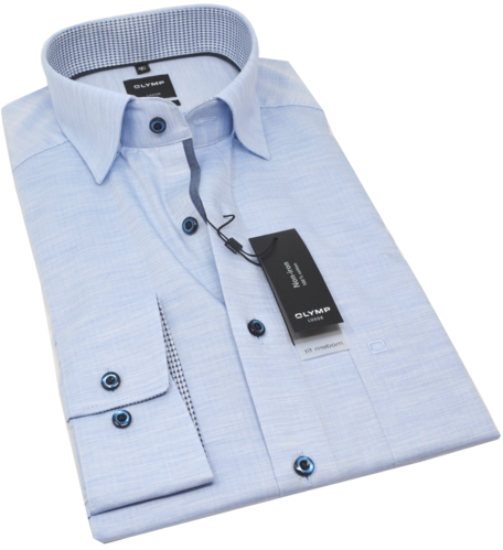 OLYMP Luxor, modern fit, Under-Button-down, Bleu