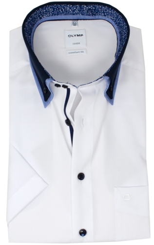 OLYMP Luxor, Comfort fit, Button-down, Weiß