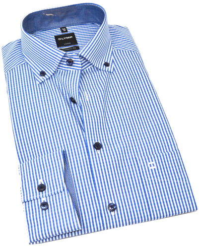 OLYMP Luxor, modern fit, Button-down, Marine
