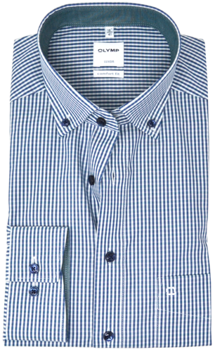 OLYMP Luxor, comfort fit, Button-down, Grün