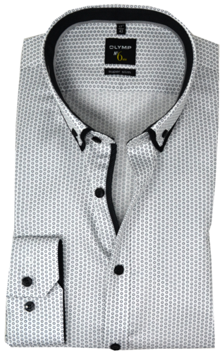 OLYMP No. Six, super slim, Button-down, weiß