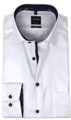 OLYMP Luxor, modern fit, Extra langer Arm, Under-Button-down, Weiß