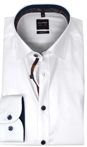 OLYMP Level Five, body fit, Extra langer Arm, Under-Button-down, Weiß