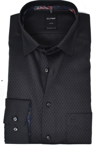 OLYMP Luxor, modern fit, Under-Button-down, Grau