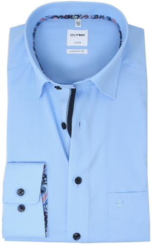 OLYMP Luxor, comfort fit, Under-Button-down, Azur