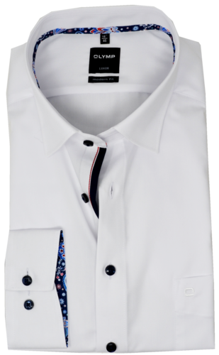 OLYMP Luxor, modern fit, Under-Button-down, Weiß