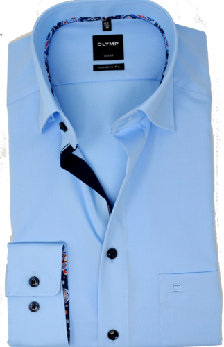 OLYMP Luxor, modern fit, Under-Button-down, Azur